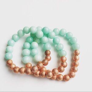 Jewelry - Aqua and Rose gold bracelets